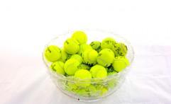 Signed Tennisballs Basket