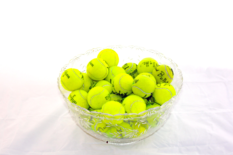 Signed Tennisballs Basket