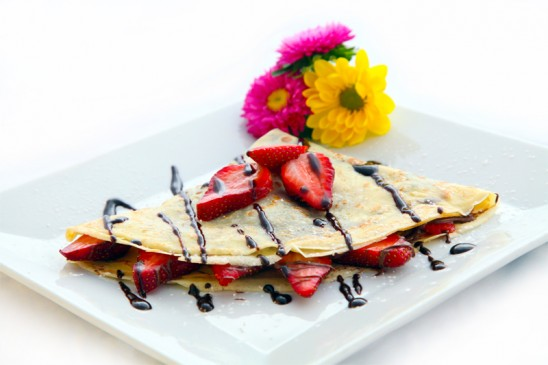 Crepes with Strawberrys